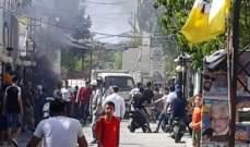 النشرة: إعادة فتح طريق مخيم عين الحلوة الغربي