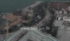 حركة المرور كثيفة على الطريق البحرية من انطلياس باتجاه بيروت