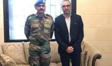 قائد الكتيبة الهندية زار رئيس بلدية كفرحمام