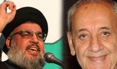 عشيرتا زعيتر وشريف تؤكدان دعمها لبري ونصر الله