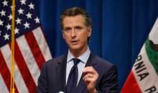 """حاكم ولاية كاليفورنيا أعلن تخفيضات هائلة في الميزانية بسبب """"كوفيد 19"""""""