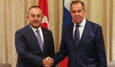 جاويش أوغلو بحث مع لافروف بآخر التطورات في ليبيا وإدلب السورية