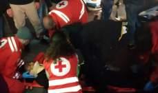 جريح بحادث سير في شارع الشهيدة ناتاشا سعد في صيدا