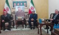 شخصيات ووفود لبنانية عزّت بسليماني في السفارة الإيرانية في بيروت