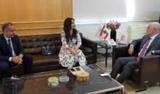 فنيانوس التقى سفير اوكرانيا وميريام سكاف