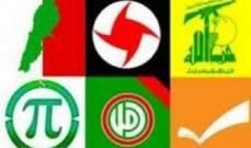 لقاء الأحزاب بالبقاع: العدوان على الضاحية لن يهز عصب المقاومة