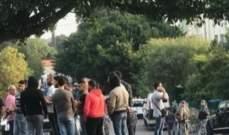اعتصام أمام مركز النافعة في الدكوانة في هذه الاثناء