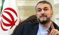 عبداللهيان: ليس أمام السعودية سوى إعادة العلاقات الطبيعية مع إيران
