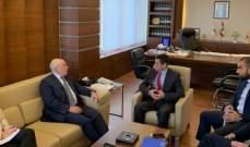 قيومجيان التقى ابو سليمان وأكد دعمه لخطة وزارة العمل