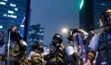 اشتباكات بين الشرطة ومحتجين من أنصار الديمقراطية في هونغ كونغ