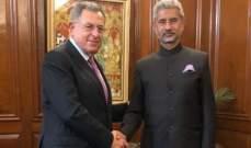 السنيورة التقى وزير خارجية الهند وألقى الكلمة الإفتتاحية لمؤتمر غرب آسيا الرابع عشر