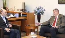 جعجع يستقبل ممثل الأمين العام للأمم المتحدة في لبنان يان كوبيتش