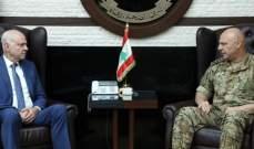 قائد الجيش عرض الأوضاع العامة مع بانو والقائم بأعمال سفارة إيران