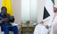 رئيس غينيا وولي عهد أبوظبي بحثا بعلاقات الصداقة والتعاون وسبل تطويرها