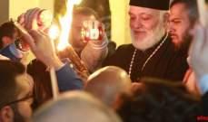 وصول الشعلة المقدسة إلى دير سيدة البلمند
