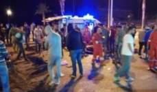 النشرة:اصابة 9 عسكريين بحادث سير وقع عند الكورنيش البحري في صيدا