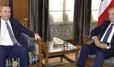 بري التقى سفيري بريطانيا وباكستان وبحث اﻻوضاع  في الجنوب مع القائد العام لليونيفل