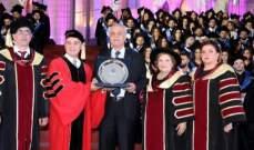 ممثل شهيب رعى تخريج طلاب اللبنانية الكندية: حاضنة وطنية تجمع أبناء الوطن وتوحدهم