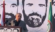 حميد: العدوان الاسرائيلي لا يواجه الا بالقوة والبندقية وبالمقاومين الشرفاء