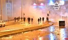 تجدد المواجهات بين القوى الأمنية والمتظاهرين في وسط بيروت
