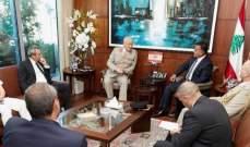 ابراهيم التقى سفيرة قبرص وكبير مستشاري وزارة الدفاع البريطانية