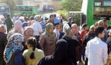 """""""سانا"""": عودة دفعة رابعة من العائلات المهجرة إلى بلدة القصير بريف حمص"""