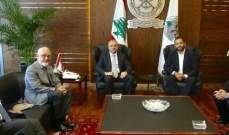 بو صعب التقى سفراء الاتحاد الأوروبي والمصري والسريلانكي والإيطالي