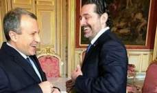 معلومات للـMTV: لقاء الحريري-باسيل لم يكن ناجحًا
