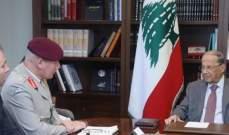 الرئيس عون لمسؤول بالدفاع البريطانية: ملتزمون بتطبيق القرار 1701