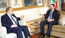 خارجية روسيا: اتصال بين الحريري وبوغدانوف تناول مسألة إرسال لقاحات إلى بيروت وتشديد على ضرورة التشكيل السريع للحكومة