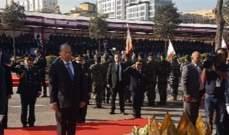وصول الرئيس عون الى الكلية الحربية للمشاركة باحتفال عيد الجيش