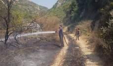 إنقاذ وادي حربا من كارثة بيئية نتيجة حريق هائل