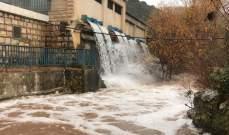 النشرة: تفجّر الينابيع في أعالي إقليم التفاح جرّاء العاصفة