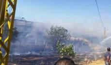 النشرة: إخماد حريق شب في عدد من البساتين في منطقة تلال الفار بالهرمل