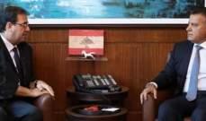 اللواء ابراهيم عرض مع فوشيه التعاون القائم بين السفارة والأمن العام