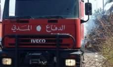 الدفاع المدني:مهمات إنقاذ وإسعاف وإخماد حرائق في مناطق عدة