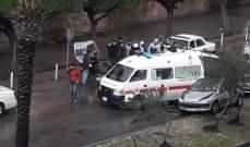 النشرة: حادث صدم في صيدا والصليب الاحمر تولى نقل المصاب