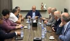 خليل استقبل وفدا من رابطة أساتذة الجامعة اللبنانية