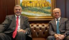 ريفي استقبل كوبيتش: لتمسك الدولة بمظلة الشرعية الدولية