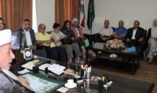 المفتي سوسان: للتوصل الى حل يحفظ كرامة عيش الفلسطينيينووجودهم بلبنان