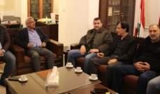 وفد من الحزب التقدمي الاشتراكي زار أسامة سعد