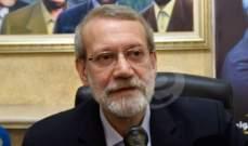 """مصادر الجمهورية: لعل الأساس بمجيء لاريجاني إلى لبنان أنه زيارة لحزب الله تحديدا بذكرى """"الشهداء القادة"""""""