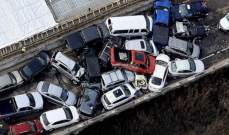 اصابة 51 شخصا اثر تصادم 69 سيارة في مقاطعة يورك بولاية فرجينيا