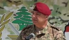 قائد الجيش: العسكريون لا يقفون بمواجهة مع الشعب ومن غير المسموح التعرض لأمن الوطن