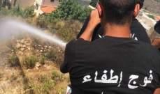 انشرة: اخماد حريق هشير في قناريت شرق بلدة الغازية