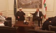 المفتي دريان استقبل وفداً شبابيا بيروتيا ووفداً من مجلس عمدة مؤسسات