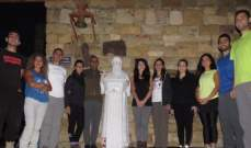 فريق دروب القديسين في Clan JP2 ينطلق بمسيرة من بيت مار شربل لضريحه بدير مار مارون عنايا