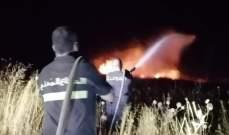 النشرة: حريق بين سرعين الفوقا والنبي شيت