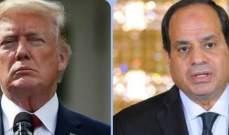 السيسي يناقش أوضاع السودان وليبيا هاتفيا مع ترامب