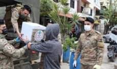 وحدات الجيش تستمر بتوزيع حصص غذائية على عدد من العائلات في طرابلس